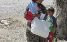 توزیع ۶۰۰ دبه آب در شهر شنبه