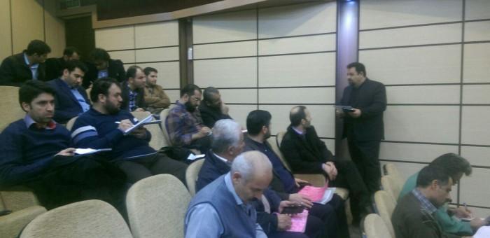 اولین کارگاه مدیریت جامع سیلاب های شهری / مدرس علیرضا سعیدی